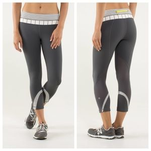 Lululemon Run: Inspire Crop II, size 12, gray